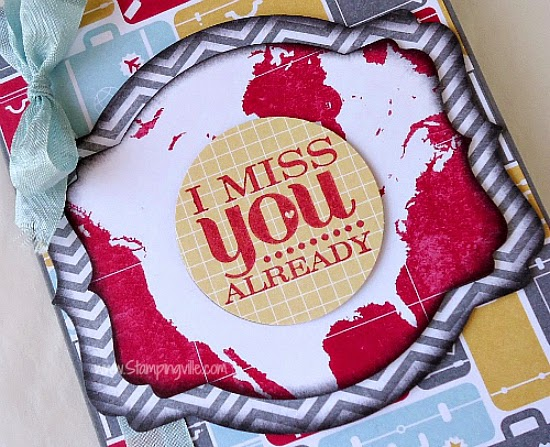 Miss You Card featuring Stampin' Up! Really Good Greetings stamp set and I Am Me Designer Series Paper.