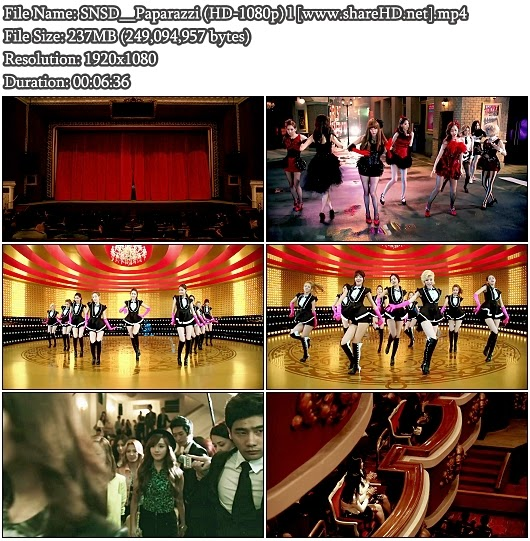 Download PV SNSD (Girls' Generation / 少女時代) - Paparazzi (Full HD 1080p)