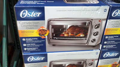 Oster Brushed Stainless Steel Convection Countertop Toater Oven: more versatile than a pop up toaster