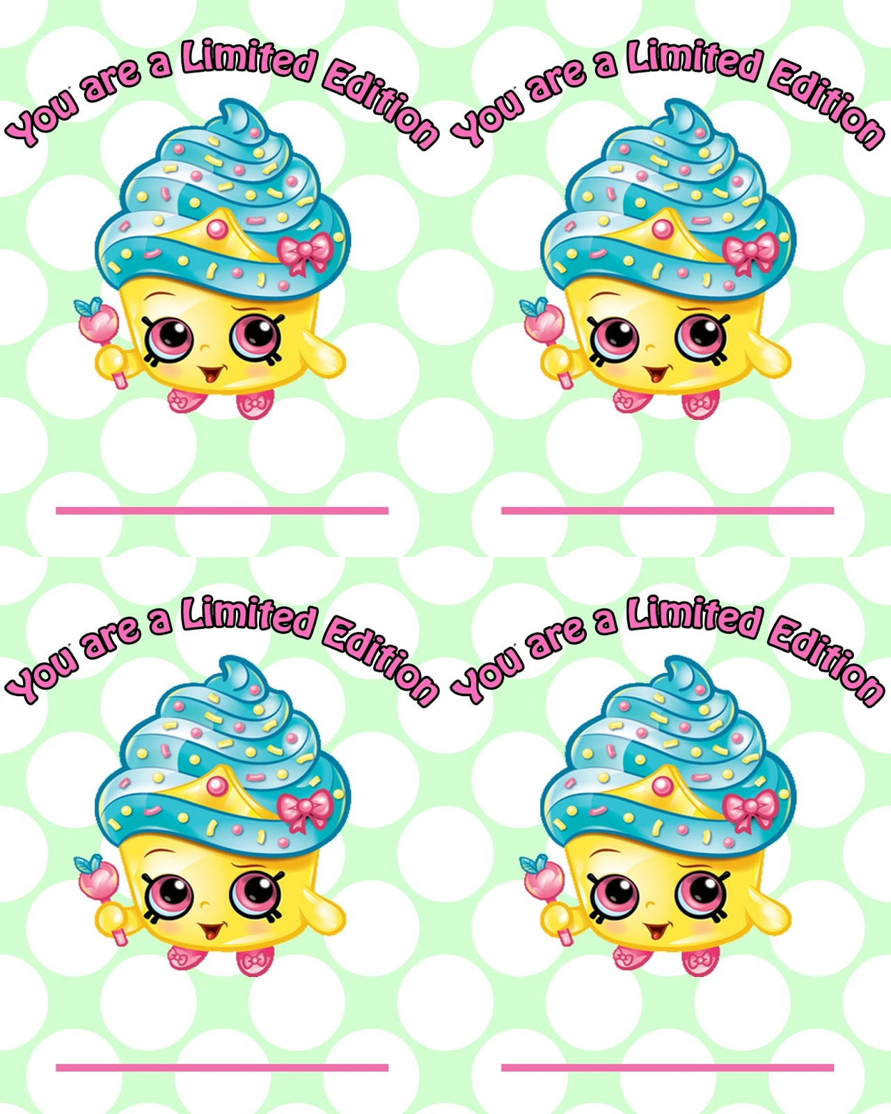 It is an image of Clever Shopkins Free Printables