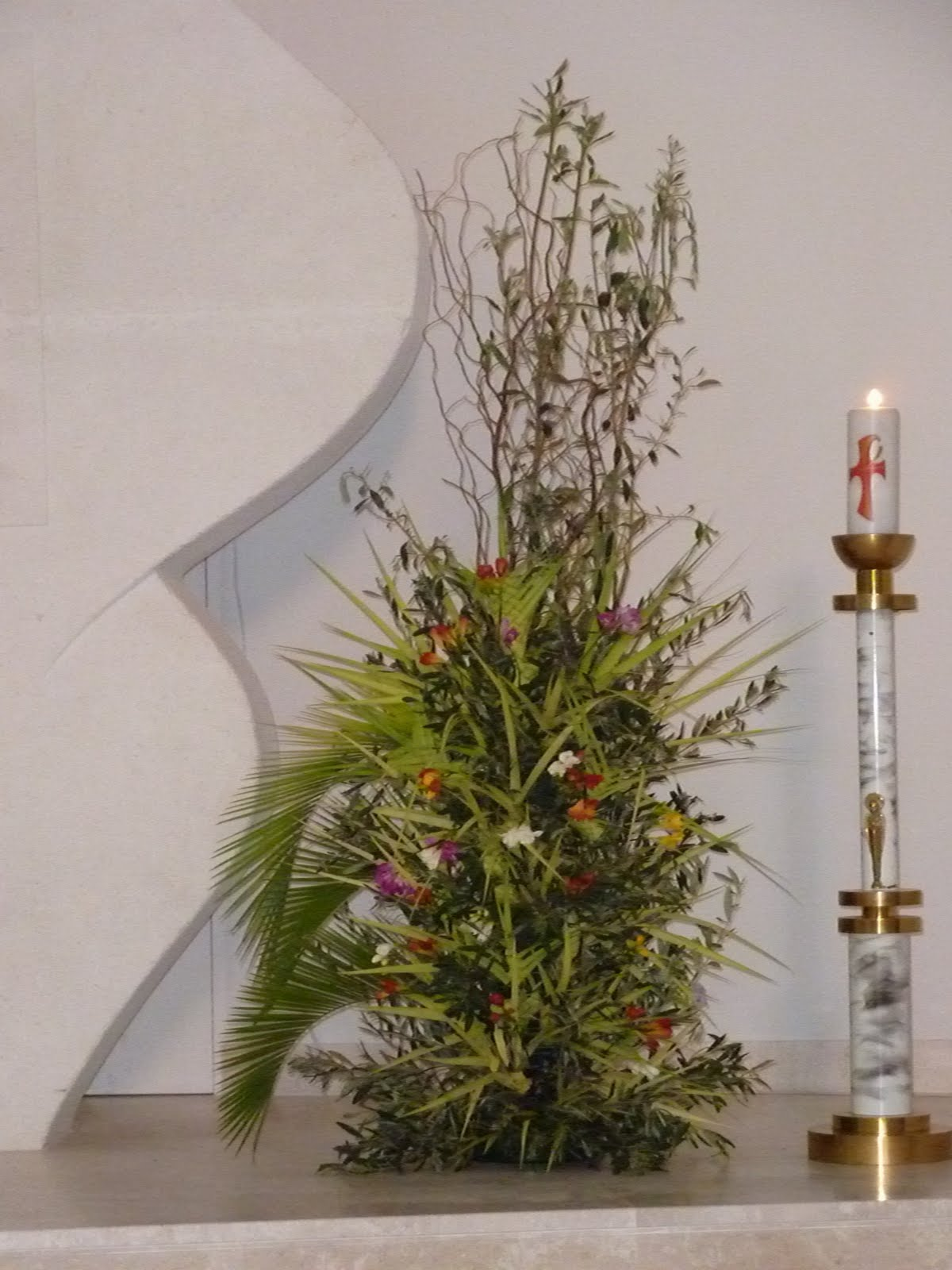 Arte floreale per la liturgia domenica delle palme - Colorazione pagine palma domenica ...
