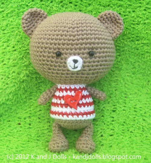 Grey Bear Amigurumi Crochet Pattern : Bobby Bear Crochet Pattern - Sayjai Amigurumi Crochet ...