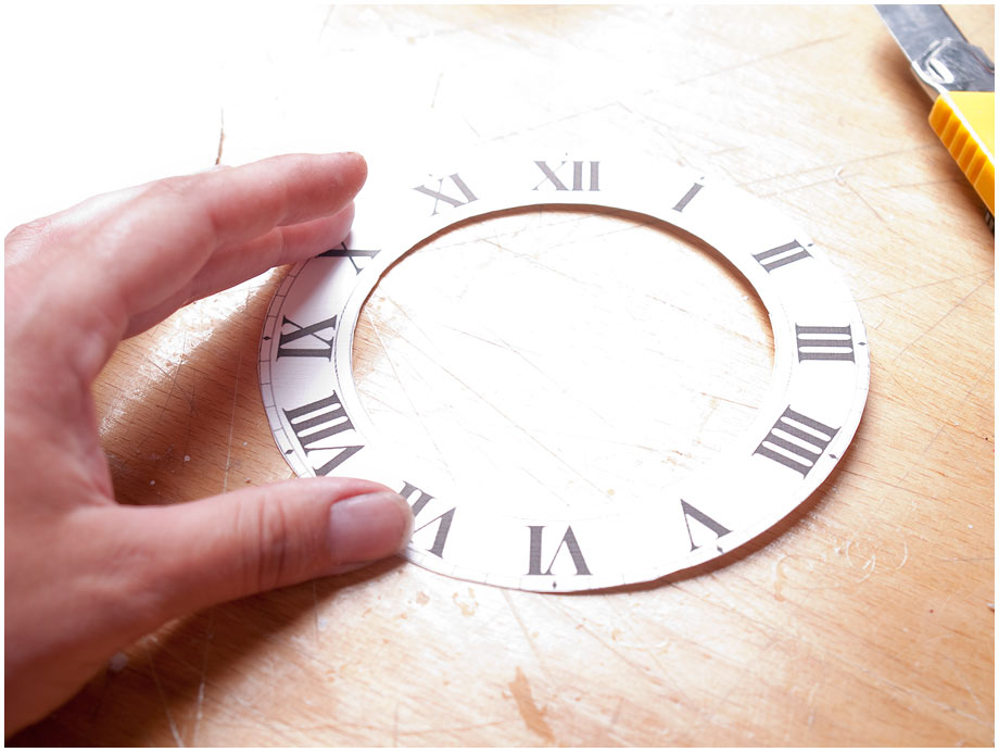 Как сделать часы картон 163