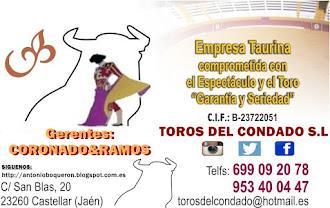 DATOS DE LA EMPRESA TAURINA, TOROS DEL CONDADO S.L