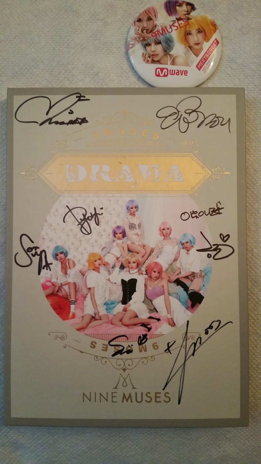 Signed Nine Muses Drama Cd From Mwave Meet Greet Ticket One Way
