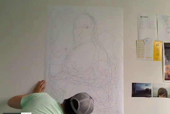 Artist Connects 6,239 Dots, Draws Mona Lisa Seen On www.coolpicturegallery.us