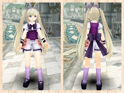 ハロウィンの衣 紫1+桃2