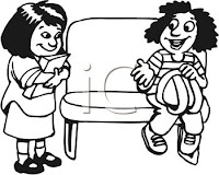 cartoon kids sharing seats, girls sharing bus seat cartoon clipart, clip art sharing seats, three child sharing seats