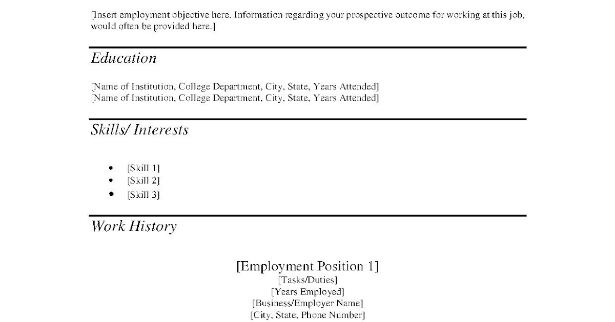 How To Word Lanscaping Job On Resume