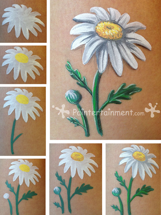 Paintertainment rita daisies for How to paint a rose in watercolor step by step
