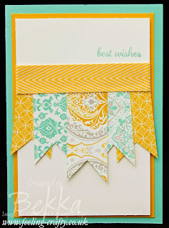 Eastern Elegance Banner Card by UK based Stampin' Up! Demonstrator Bekka Prideaux - contact her to get all your Stampin' Up! goodies