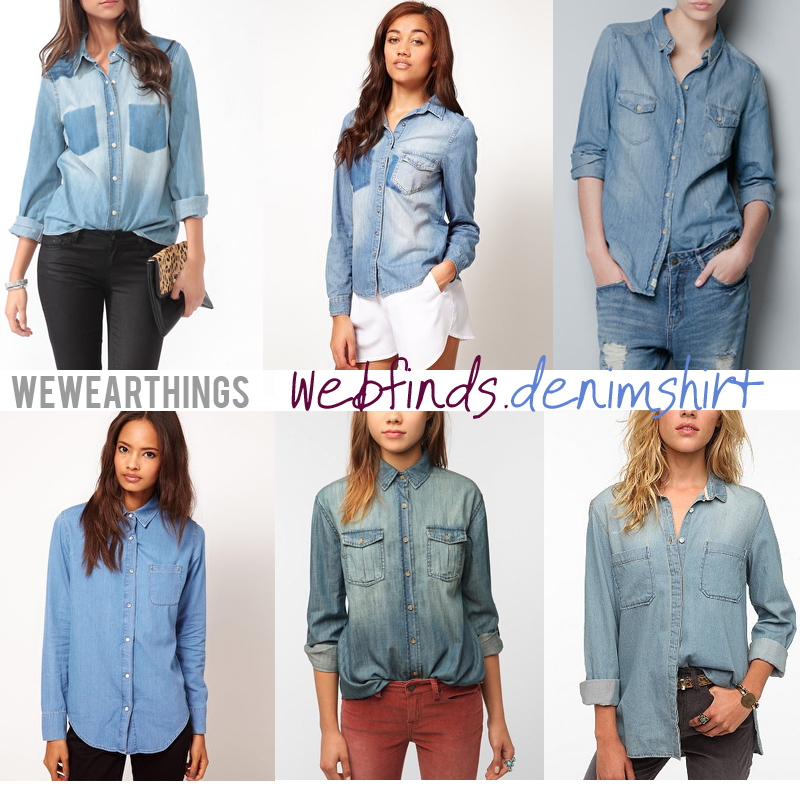 WWT webfinds, denim shirts