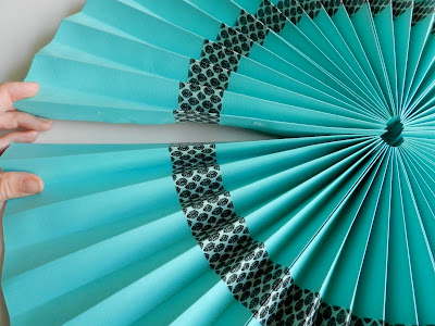 Washi Tape Paper Fans