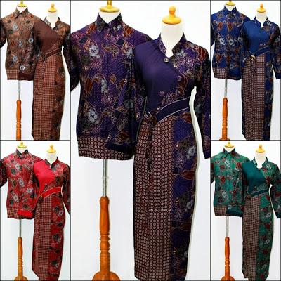 Baju Gamis Batik Sarimbit Biru Model Serut Dada Bagian