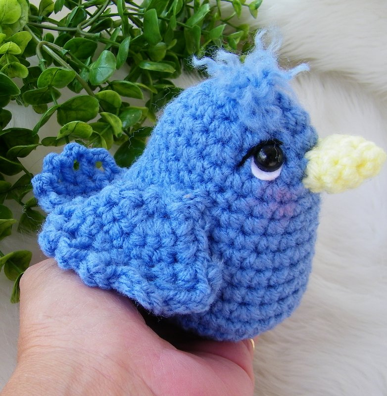What Is Crochet : Teris Blog: Free Simply Cute Blue Bird Crochet Pattern