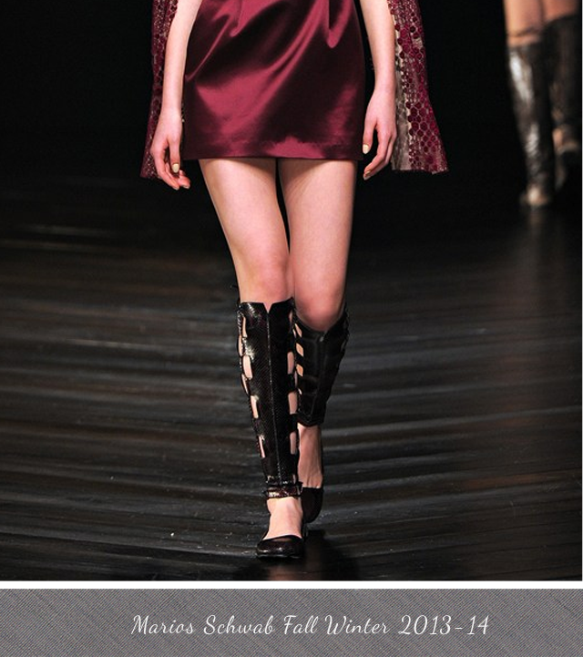 Marios Schwab Fall Winter 2013-2014 Gladiator Boots