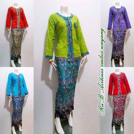 Baju Seragam Batik Kerja Wanita Model Pramugari Keluaran Terbaru 2015
