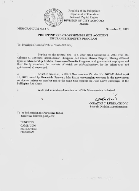 department of education manila  division memorandum no