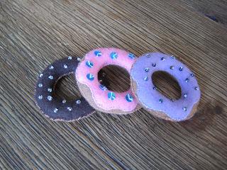 Filz Donut, Filz Gebäck, Filzgebäck