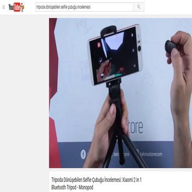 youtube com - tripoda dönüşebilen selfie çubuğu incelemesi