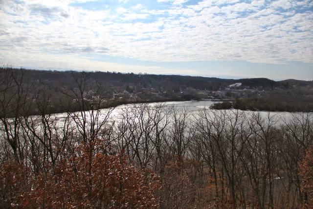 looking downstream to St. Croix and Taylors Falls
