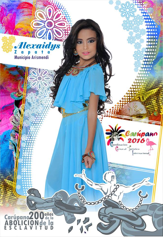 Fotos Oficiales de las Mini Candidatas al Mini Reinado del Carnaval Turístico Internacional de Carú
