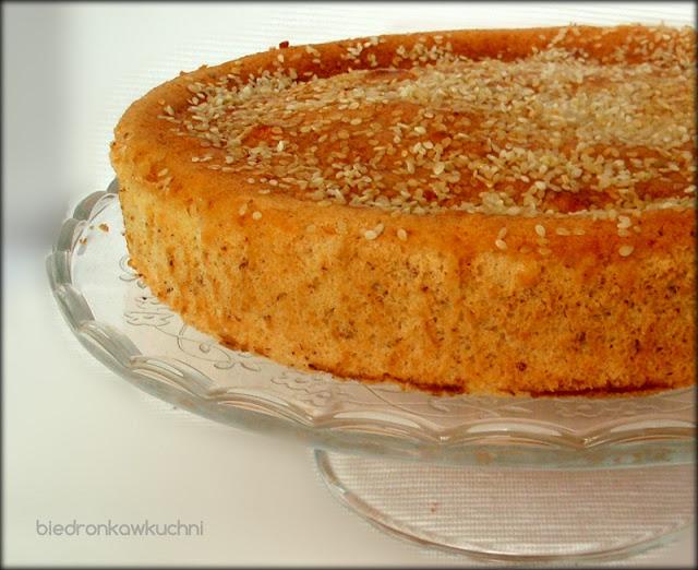 przepis na ciasto, migdały, sezam