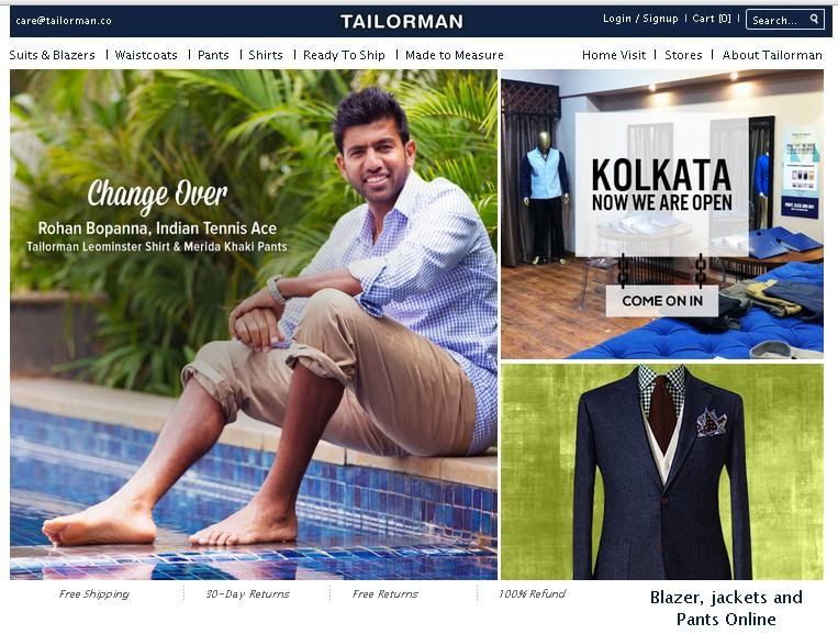 TAILORMAN.COM - The last word in customized MEN's fashion