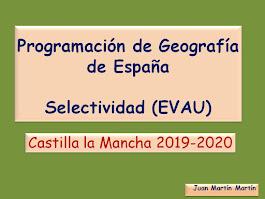 Programación de Geografía para Selectividad (EvAU).  2019-2020