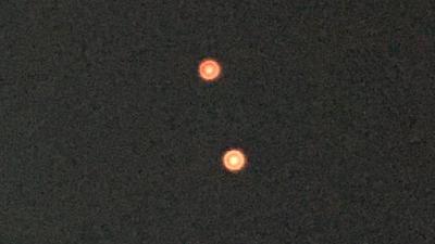 Glowing Orange UFO's Caught Over California 2015, UFO Sightings