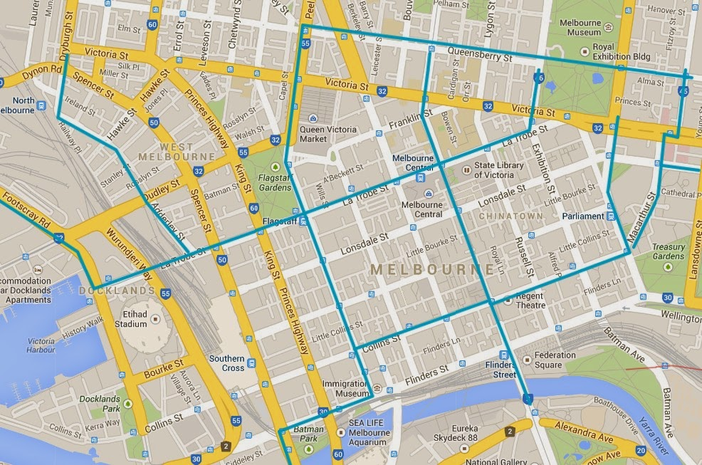 Best cycling routes through Melbournes CBD Better By Bicycle