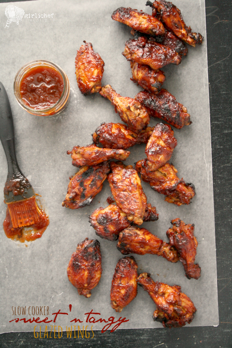 Slow Cooker Sweet 'n Tangy Glazed Chicken Wings