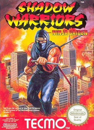 shadow warriors ninja gaiden arcade game portable flyer