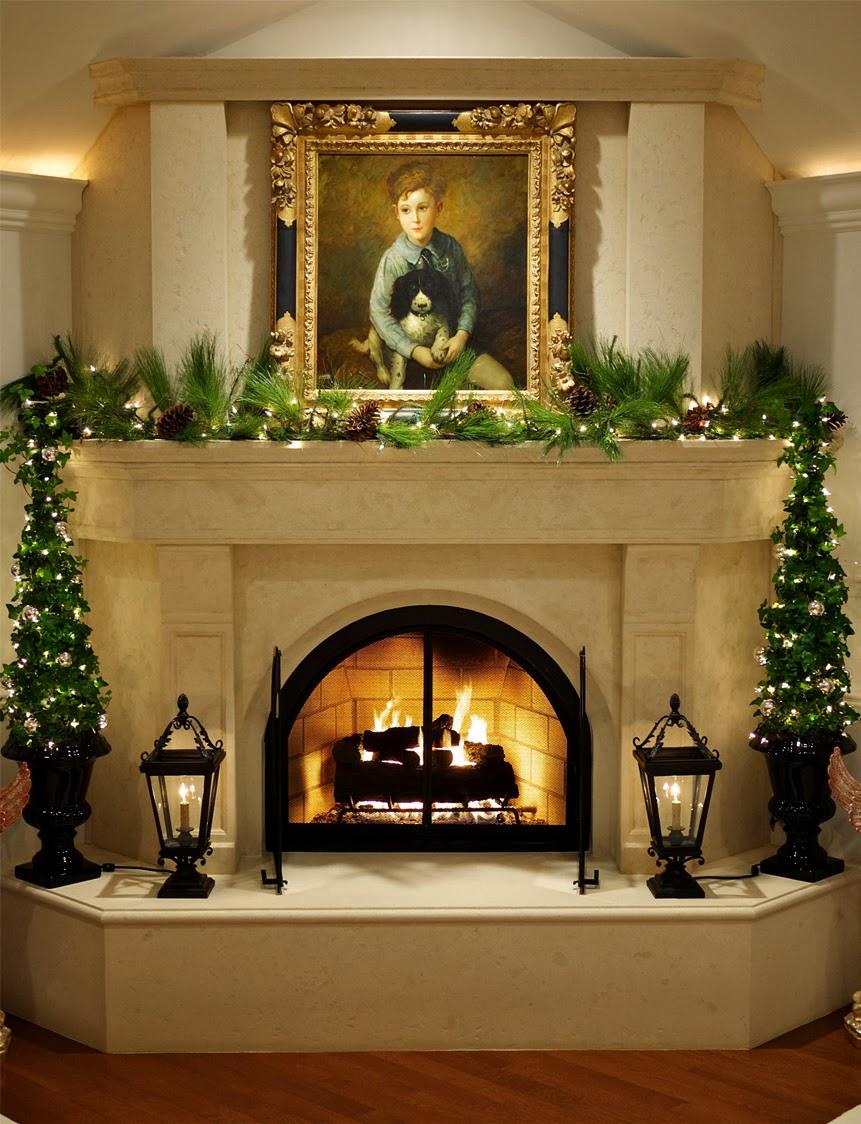 Decoracion de chimeneas para navidad parte 5 for Decoracion de chimeneas