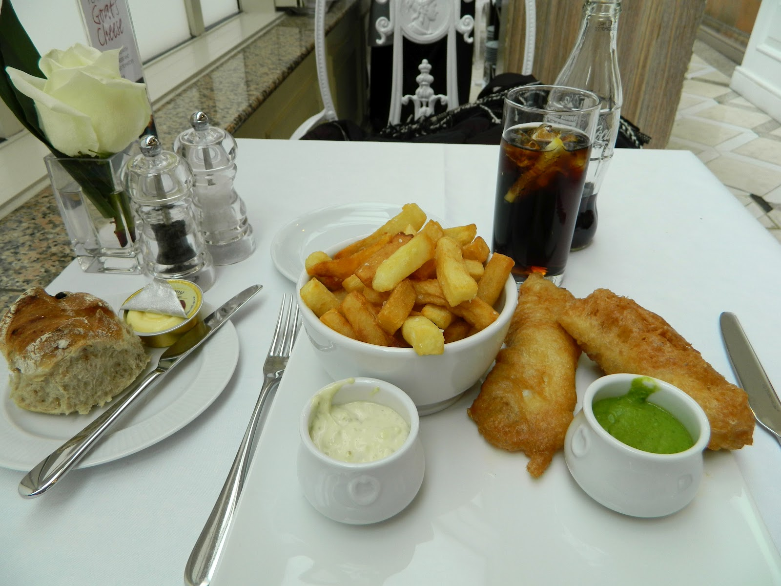 Fashion in traveling weekend in london part ii eat for Terrace fish and chips
