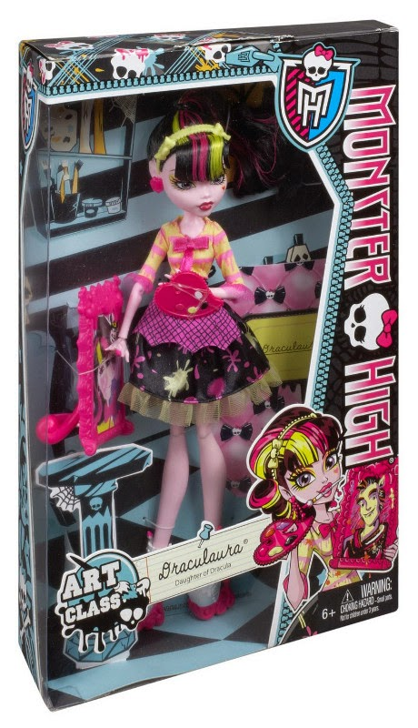 JUGUETES - MONSTER HIGH Art Class  Clase de Arte - Draculaura | Muñeca  Producto Oficial | Mattel BDF12 | A partir de 6 años