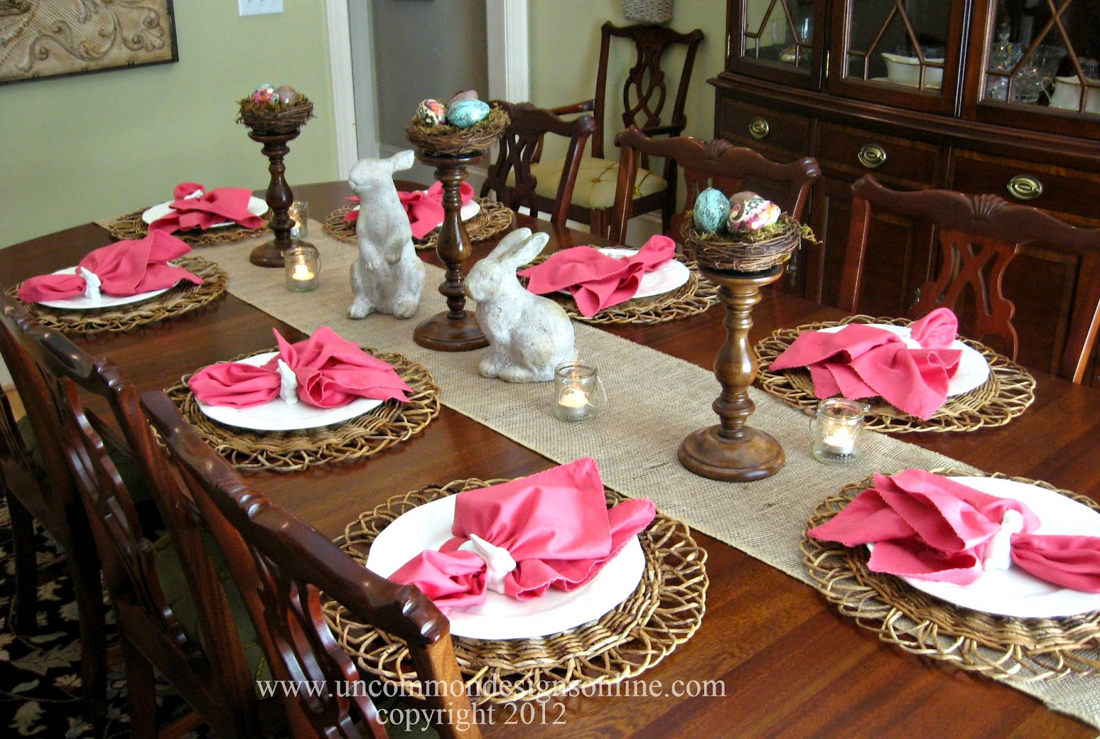 easter tablescapes for everyday living - uncommon designs