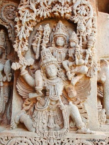 Purana stories on Hosaholalu temple wall