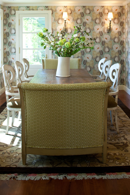 Innovative Design of the Traditional Kitchen with Unique Dining Room Tables And Chairs on Unusual Carpet