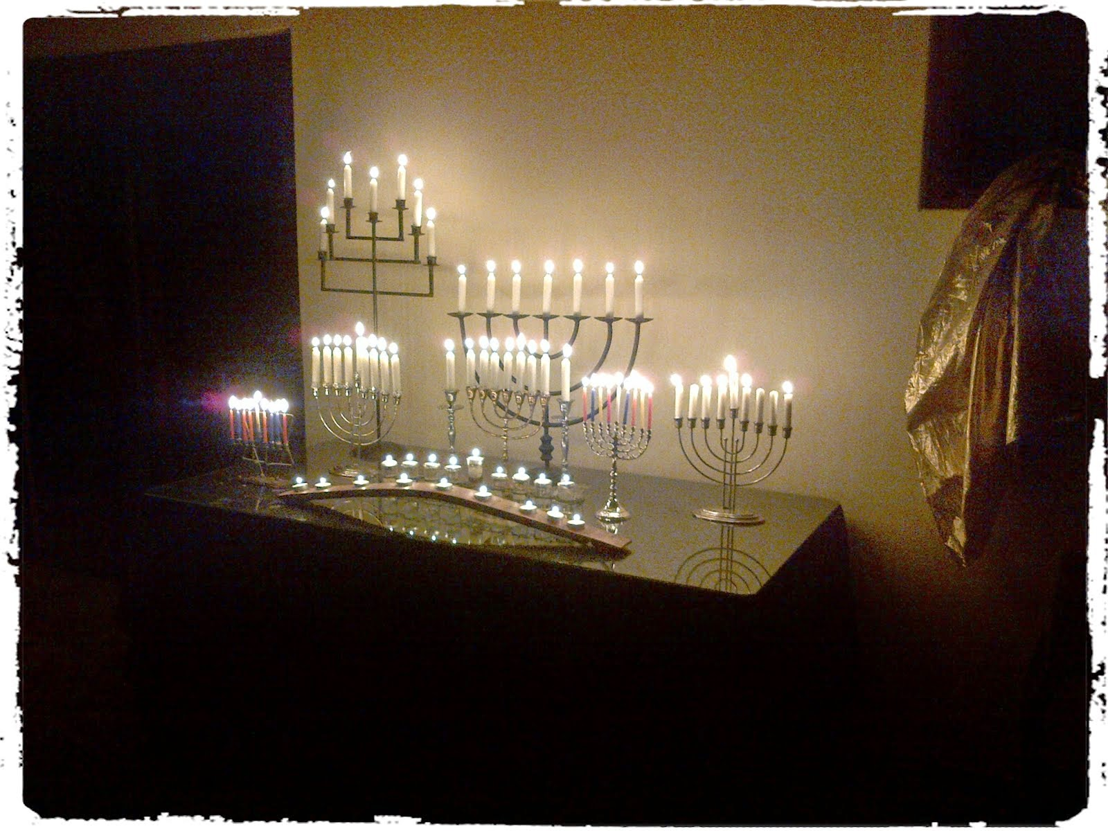 All the channukiahs and menohras are burning on this last evening of Channukah