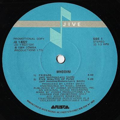 Whodini – Friends / Five Minutes Of Funk (VLS) (1984) (320 kbps)