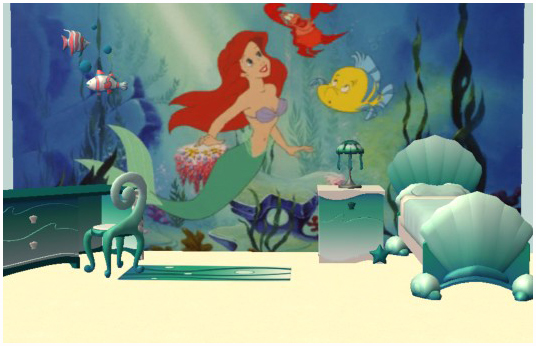 Little Mermaid Wall Mural Carmen S Toddlers The Little Mermaid Wall Murals