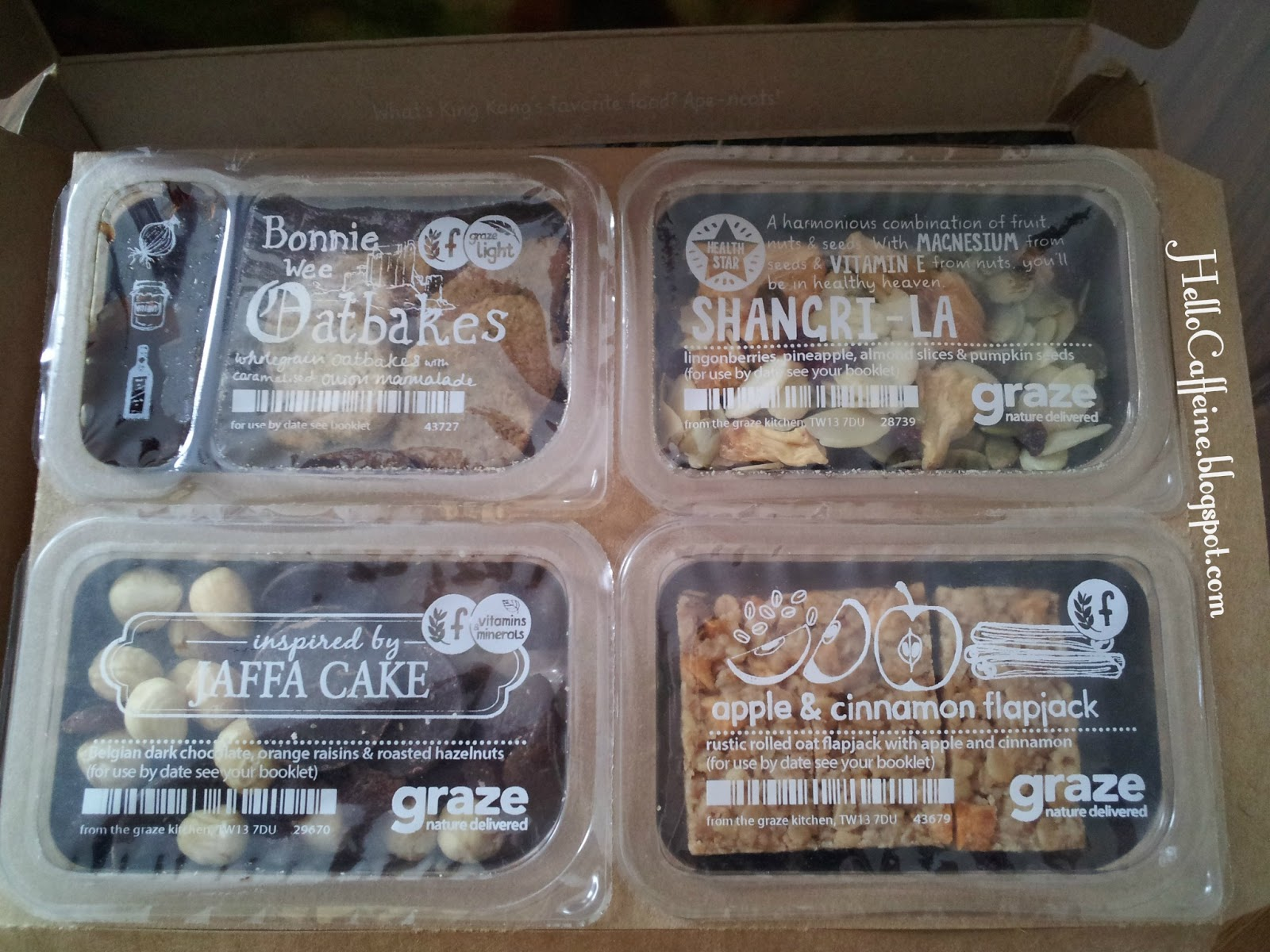 HelloCaffeine: Graze Box Review: March 2013 Nibblebox #2