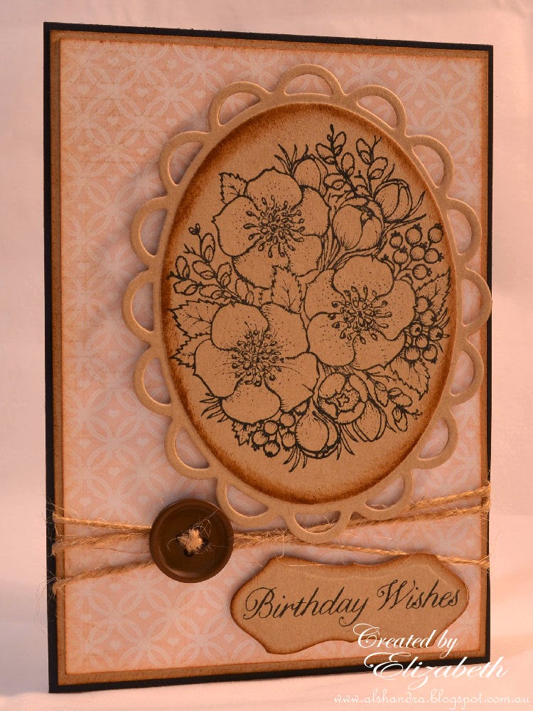 Elizabeth Whisson, Flourishes, Winter Blossoms, stamping, handmade card