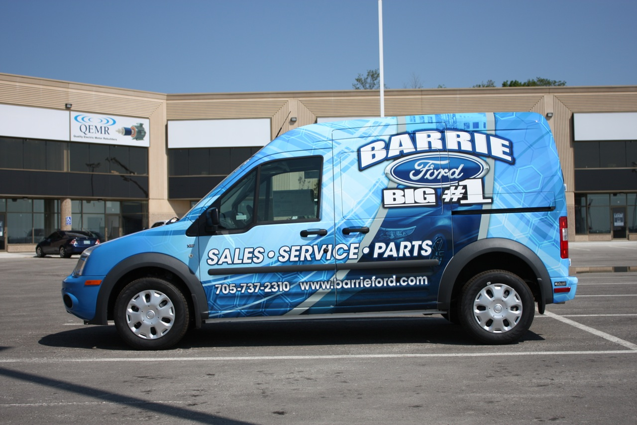 Barrie Ford - Transit Wrap & Barrie Ford - Transit Wrap - Eminent Custom Graphics inc. markmcfarlin.com