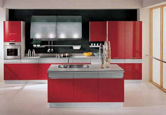 Decora el hogar cocinas color rojo for Top kitchen designs 2015