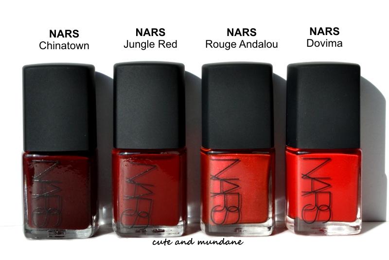 Cute and Mundane: My NARS Red Nail polish collection review + ...