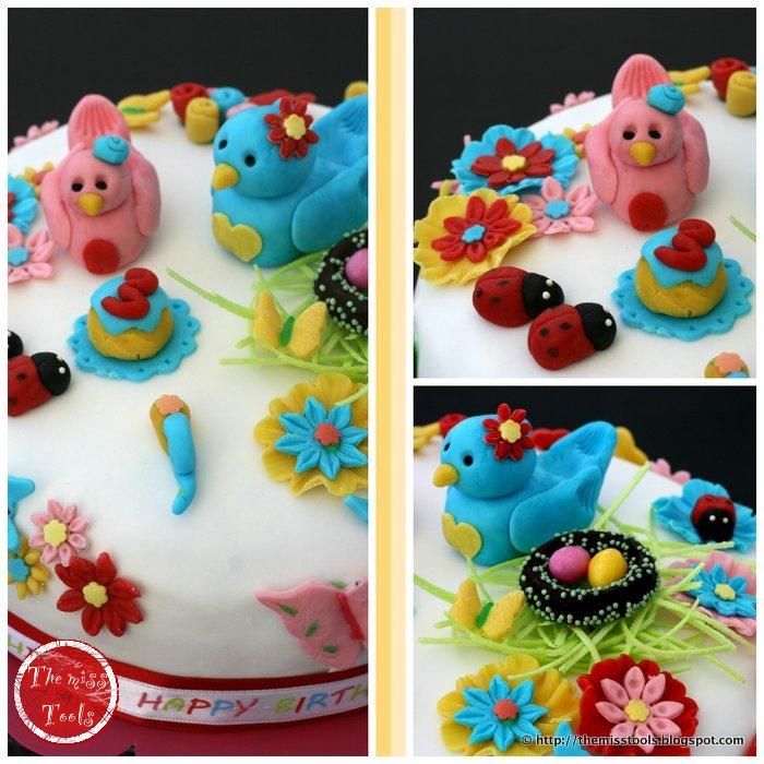 torta di compleanno mattino di primavera  - birthday cake spring morning