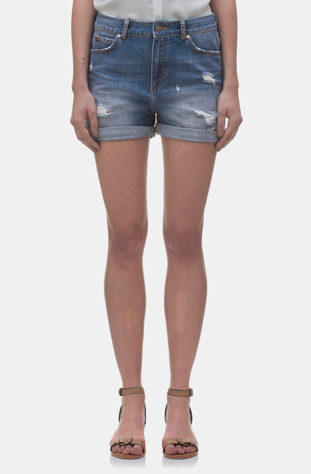 whistles denim shorts