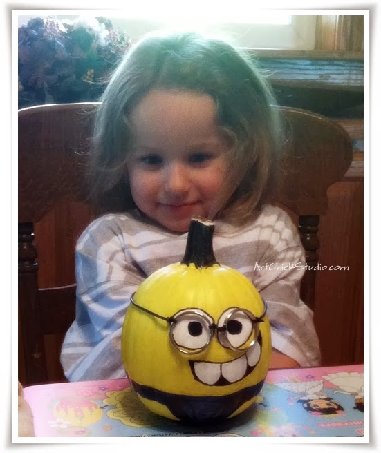 My Minion and Her Minion Pumpkin